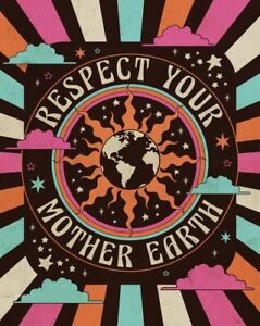 Respect Mother Earth Art Print - Landscape Poster - Poster Pirnt