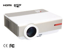 US 5000 Lumens 1080P FULL HD 3D Home Theater USB HDMI Video Movie LED Projector