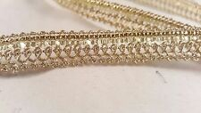 1.3cm- 2 metre beautiful gold sequins lace trimming edging for crafting decor