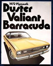 Prospekt brochure 1972 Plymouth Duster  Valiant  Barracuda  (USA)