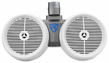 "Rockville DWB80W Dual 8"" White 800 Watt Marine Wakeboard Tower Speaker System"