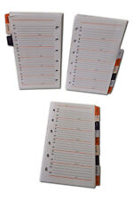 A7 Size Address Index 9 Pages suitable for Pocket size Filofax (Pocket)