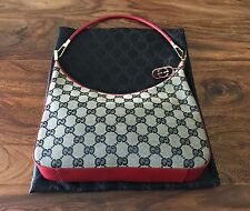 Authentic GUCCI MONOGRAM Red Blue GG HANDBAG Boho PURSE & DUST COVER From Italy