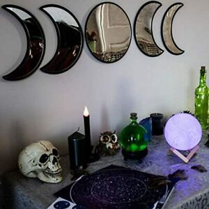 BLACK MAGIC WITCH Moon Mirror - Announcing Love Home Wall Decor - Moon Phase Mir