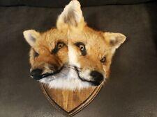 â—� 2 Headed Fox Taxidermy Sideshow Gaff animal head mount bobcat coyote Odd Weird