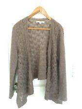 Lauren Conrad Cardigan Sweater Women's XL Taupe Brown Knit