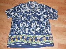 Chaps Ralph Lauren Hawaiian Hibiscus flower Luau girls button front shirt XXL
