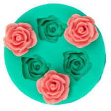 3D Rose Flower Silicone Chocolate Fondant Cake Candle Soap Mold Mould Decorat