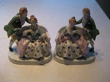 Vintage Maruyama Porcelain Figurines Occupied Japan, Set of 2  Rare great condit