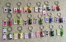 """Disney 1.5"""" Vinylmation Jr Series 1 key chain complete set of 18 with 2 chasers"""
