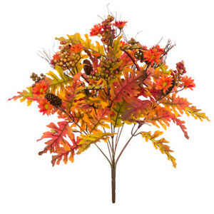 55cm Autumn Oak Leaf and Berry Spray for Home Decoration