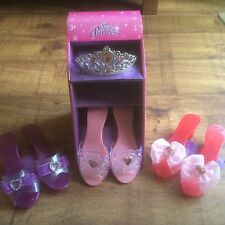 3 Girls Pretty Princess Shoes & Diamante Tiara - Dress Up/Christmas Gift