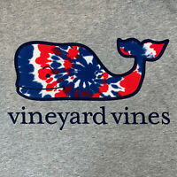 Vineyard Vines Men's S/S Pocket T-shirt Sz Lg USA Tie Dye Whale Fill- NEW TAGS