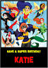 DC Super Hero Girls Birthday Card A5 Personalised with own words