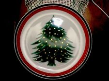 "Christmas Holiday Plate Decor Santa Cookie Plate Japan 7 1/2"" Serving"