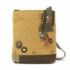 New Chala Messenger  Patch Cross body SLIM CAT Bag Canvas gift Messenger Brown