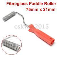 Fibreglass Bubble Burster Paddle Roller 75x21mm Plastic Handle Compression Tool