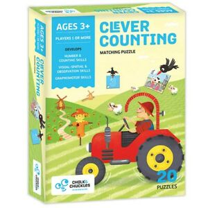 Eduk8 Chalk & Chuckles Clever Counting - Kids Children's Maths Educational Toys