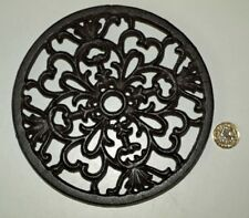 Round Trivet Tea Pot Pan Stand Dining Kitchen Worktop Protection 17cm Iron New