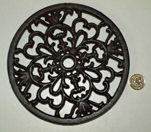 Round Trivet Tea Pot Pan Stand Dining Kitchen Worktop Protection 17cm Iron New