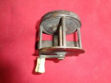 """Small Vintage Raised Back Brass Winch Reel . 2 1/8"""" by 1 3/4 """" Wide."""
