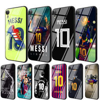 Lionel Messi TPU Glass Case for iPhone 8 7 6 6S Plus 5 X XS Max XR 11 Pro Max