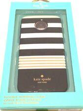 Kate Spade NY Flexible Hardshell Case for Moto Z Droid Black White Gold Stripe