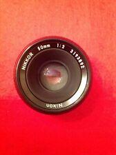 Vintage Nikkor f=50mm  1:2 Lens