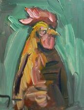 JOSE TRUJILLO ORIGINAL Oil-Painting EXPRESSIONISM 11x14 ROOSTER PORTRAIT FAUVIST