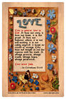 LOVE NEVER FAILS 1st CORINTHIANS Bible Verse Medieval Hastings Book of Hours Art