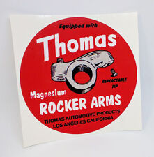 Thomas Rocker Arms Vintage Style DECAL, vinyl STICKER, hot rod, car racing