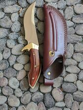 Custom Buck 408 Kalinga Pro Knife BOS S35 VN Blade Rosewood Handle