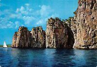 Cartolina Gaeta Montagna spaccata vista dal mare 1971