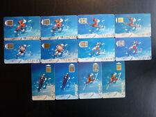 12 télécartes 1991 - Jeux olympiques d'Albertville 1992