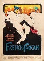 Original Movie Poster - Gruau - French Cancan - Moulin Rouge - Edith Piaf - 1955