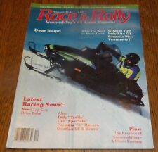Winter 1991-92 Race & Rally Snowmobile Wildcat 700, Indy Lite GT, Formula Plus