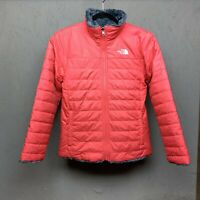 The North Face Girls' Mossbud Swirl Reversible Jacket - Large - Peach/Grey