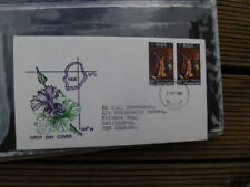 NIUE POSTALLY USED  FIRST DAY COVER TO NZ 1969 CHRISTMAS