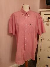 Barbour   gingham check red Shirt XXL