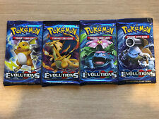 Pokemon XY Evolutions Booster Packs - Brand New & Sealed - All 4 Artworks