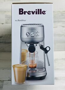 Breville The Bambino Stainless Steel Espresso Coffee Maker BES450BSS New