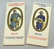 1861-65 Authentic Collection of Civil War Uniforms Union / Confederacy Cards
