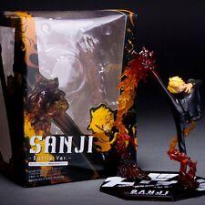 Figurine One Piece Zero Sanji Battle Black Leg Fire Jambe du Diable Figure Toys