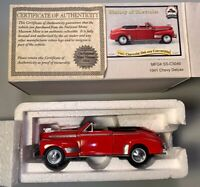 1941 Chevy Special Deluxe Convertible Red Diecast Model w/box & Certificate