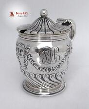 Mustard Pot Belleflower Smiling Devil Masks Gorham 1892 Sterling Silver