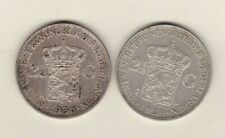 More details for two netherlands two & half gulden coins dated 1929 & 1938 - near extremely fine