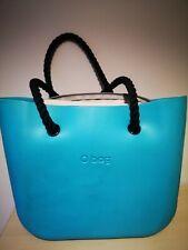 Obag handbag blue with black rope handels used