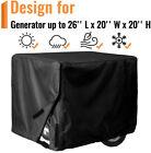 """Portable Generator Cover for 3000-5000 Watt, 26 x 20 x 20"""" Heavy Duty Waterproof"""