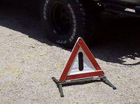 Emergency roadside reflector triangle German army surplus military vehicle used