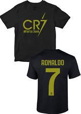 Cristiano Ronaldo T-Shirt CR7 Forza Juventus Football Fans soccer kids adult TOP
